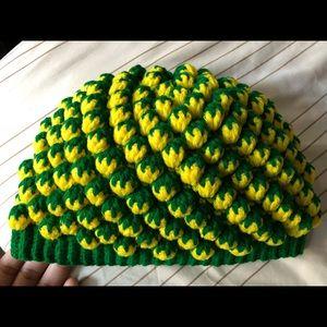 🔴🍍 New Pineapple Crochet Handmade Hat One Size
